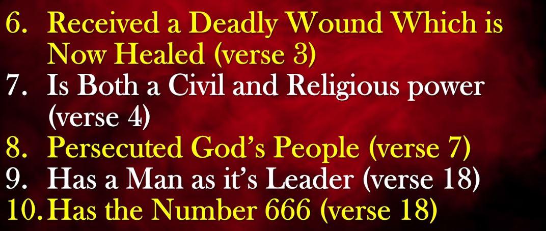 Bible explains NWO