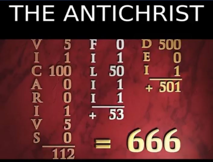 order number of a man 666